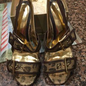 Gold n Brown Sandals